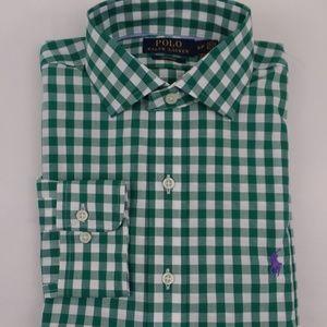 Polo Ralph Lauren NON IRON Button Up Shirt Green S